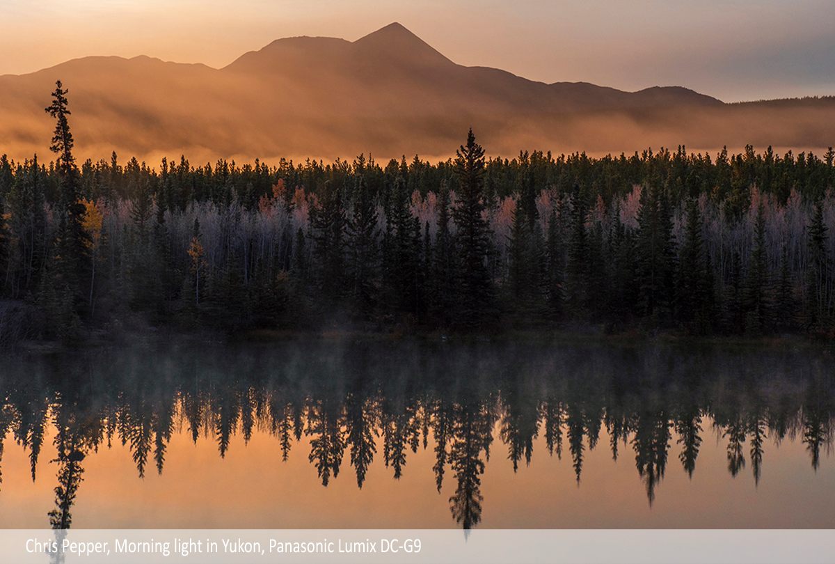 Chris Pepper, Morning light in Yukon, Panasonic Lumix DC-G9