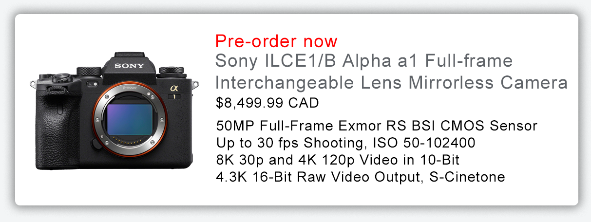 Sony ILCE1/B Alpha a1 Full-frame Interchangeable Lens Mirrorless Camera