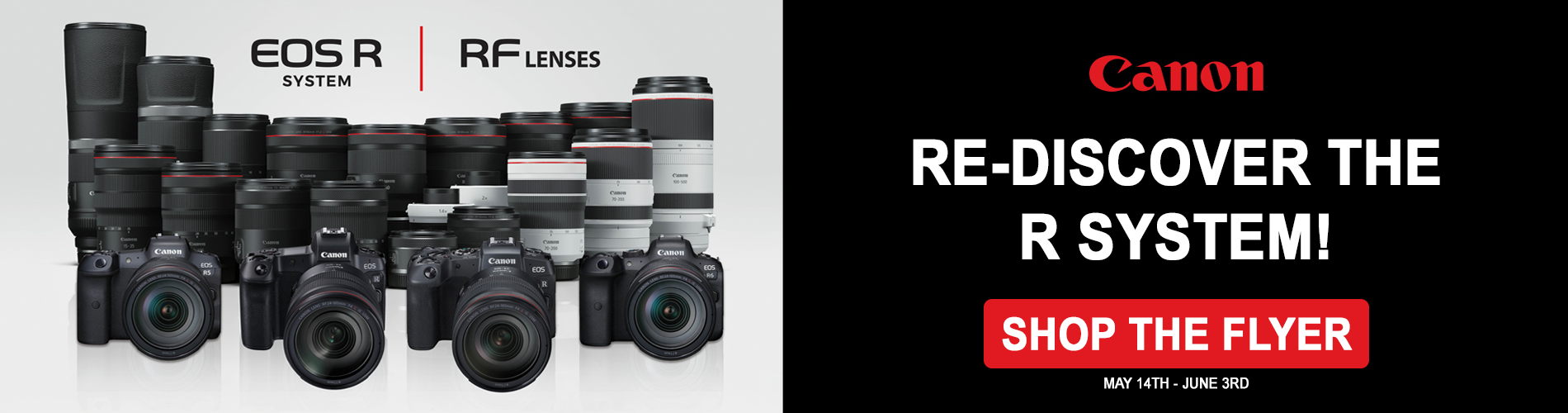 Canon EOS R System flyer Excellent Photo Montreal Canada