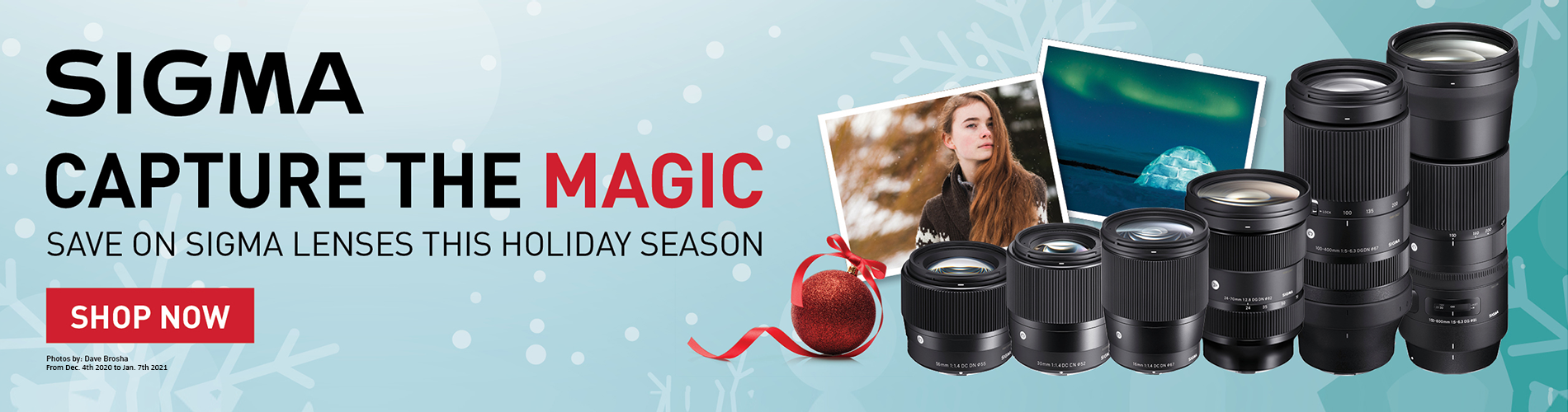Sigma Holiday promotions