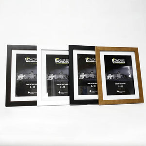Black tabletop wood photo frame 8x10