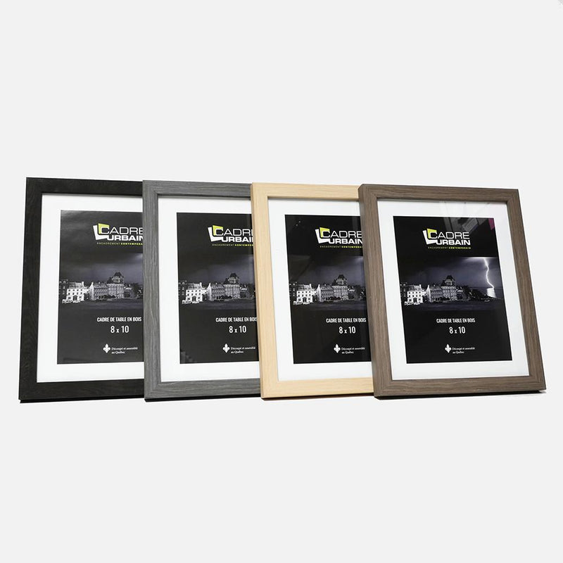 Black wood grain Tabletop photo frame 8x10
