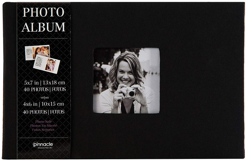 Pinnacle Album with Photo Frame 1 up - Black Cloth