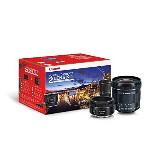 Canon EF 50mm f/1.8 STM + EF-S10-18 STM Kit