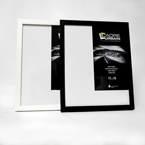 Black wood photo frame 11x14
