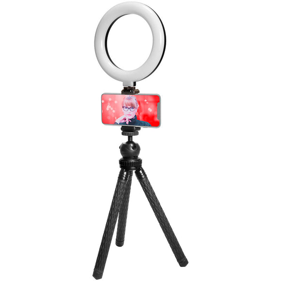 Mobifoto MOBIRL6 6 Inch Bi-Colour LED Ring Light Vlog Kit