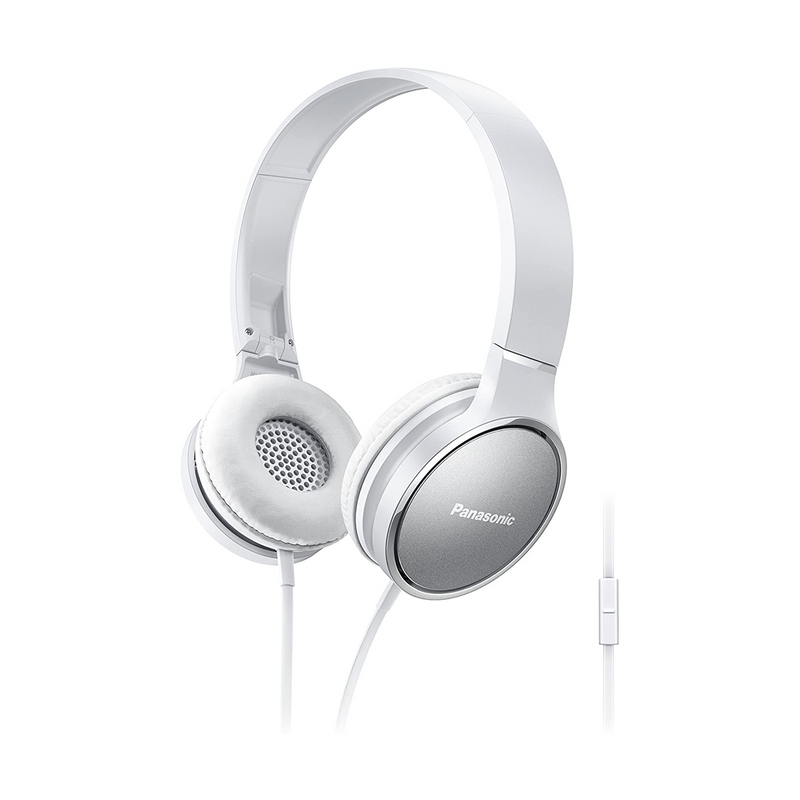 Panasonic Premium Sound On Ear Stereo Headphones RP-HF300M with Integrated Mic and Controller  - White