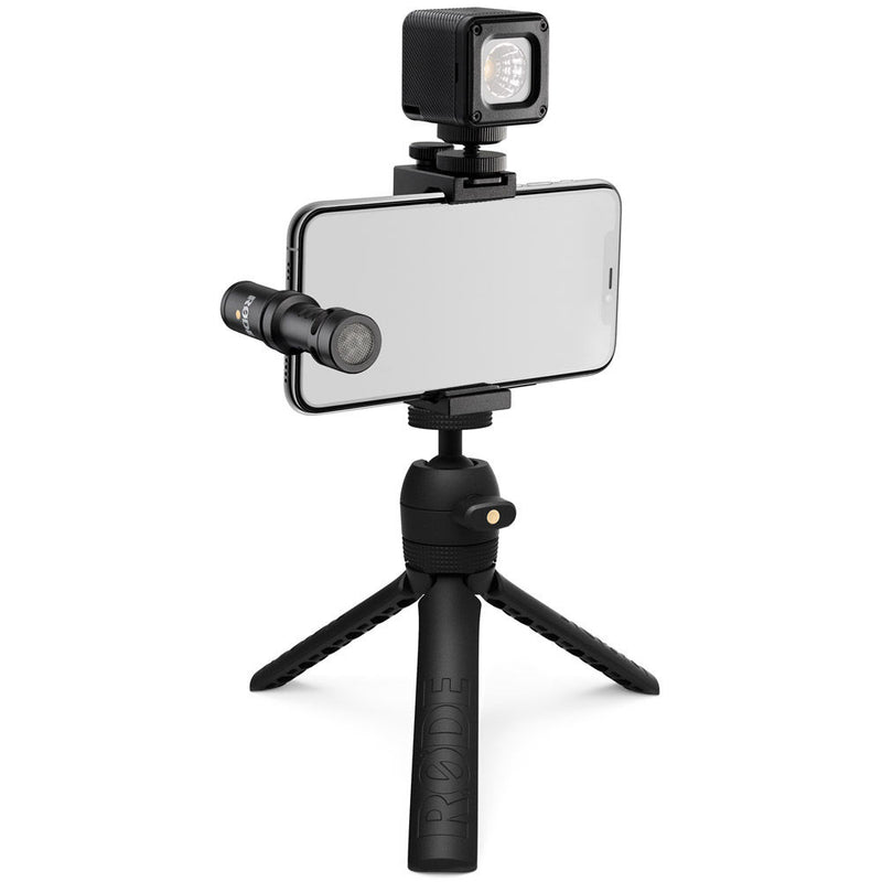 Rode Vlogger Kit - VideoMic Me-L, Tripod 2, Smart Grip, LED Light & Accessories - for iOS Devices