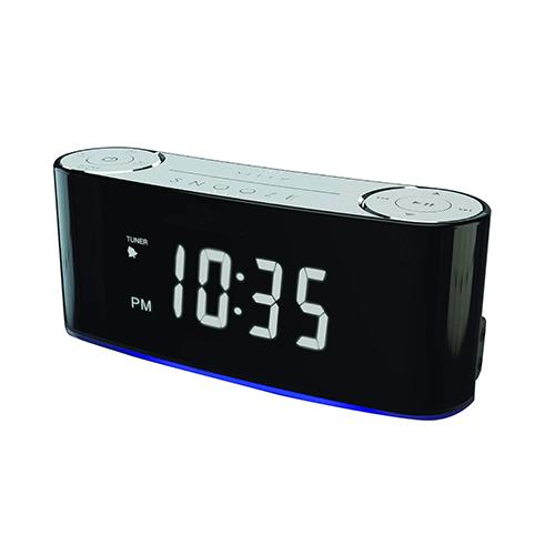 Sylvania Clock Radio with Bluetooth and USB charging