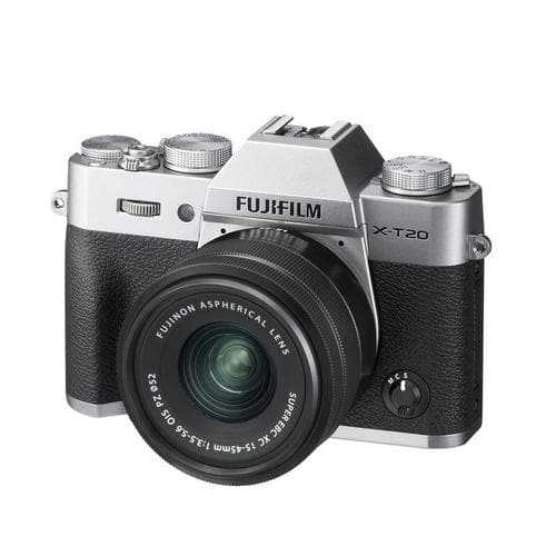 FujiFilm X-T20 Mirrorless Camera Kit with XC 15-45mm Lens - Silver