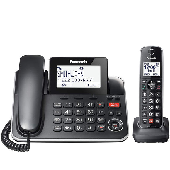 Panasonic  KXTGF870B - 1-Handset Digital Corded/Cordless Phone with Answering System