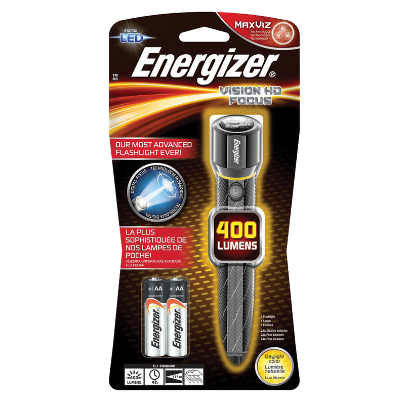 Energizer EPMZH21E - Stainless Steel LED Handheld Flashlight, AA