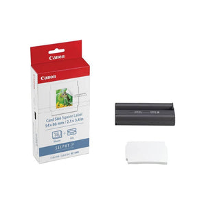 "Canon KC-18IS Card Size Square Label Ink and Paper Pack (2.1 x 3.4"", 18 Sheets)"