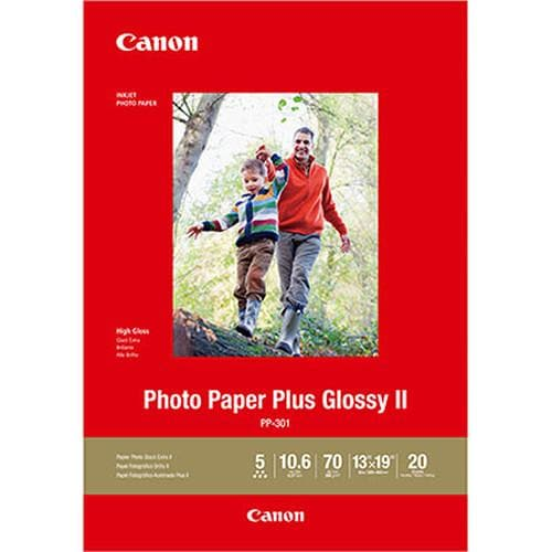 "Canon PP-301 Photo Paper Plus Glossy II (13 x 19"", 20 Sheets)"