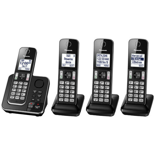 Panasonic KXTGD394 4 handset cordless phone with answering  system