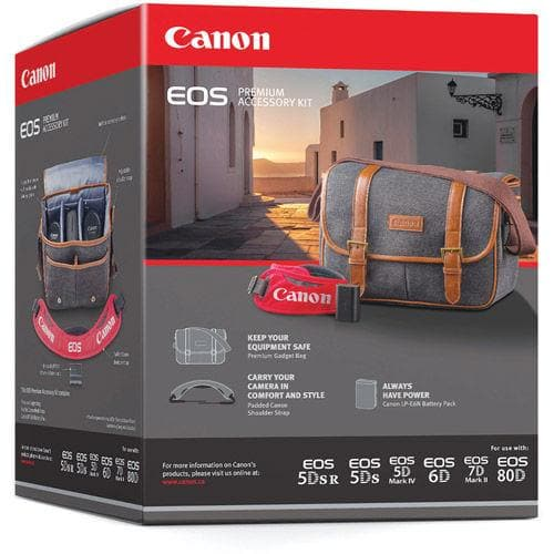 Canon EOS Premium Accessories kit - Includes Bag, LP-E6N, DSLR Strap