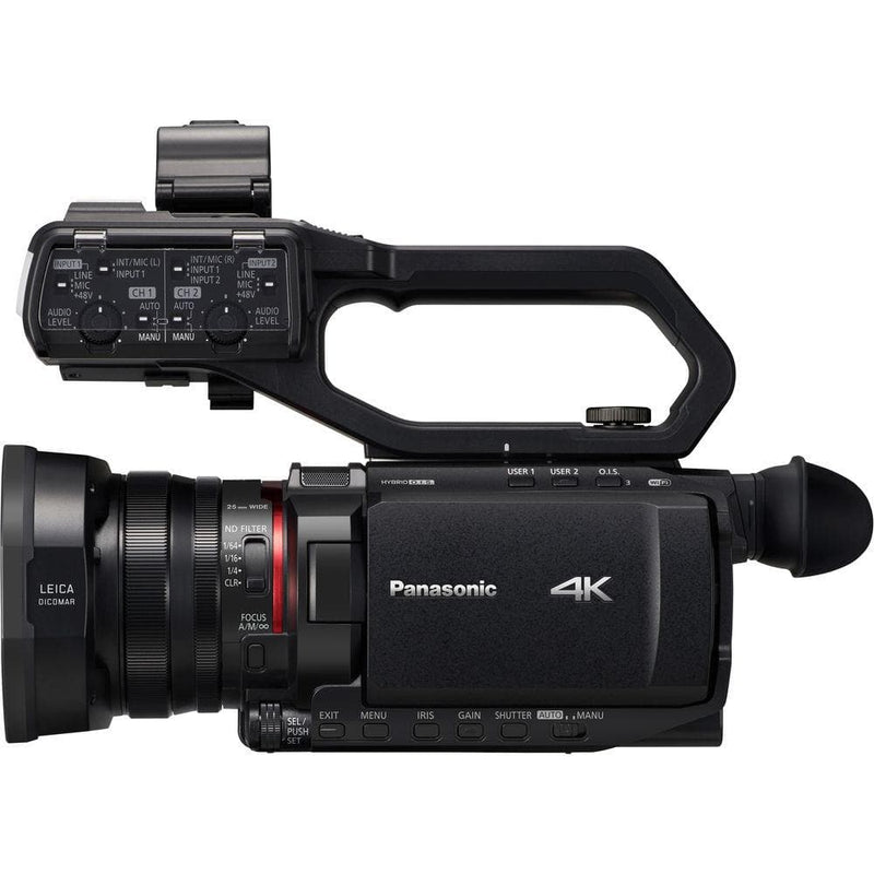 Panasonic HC-X2000 4K Professional Camcorder with 24x Optical Zoom, WiFi HD Live Streaming, 3G SDI Output and VW-HU1 Detachable Handle