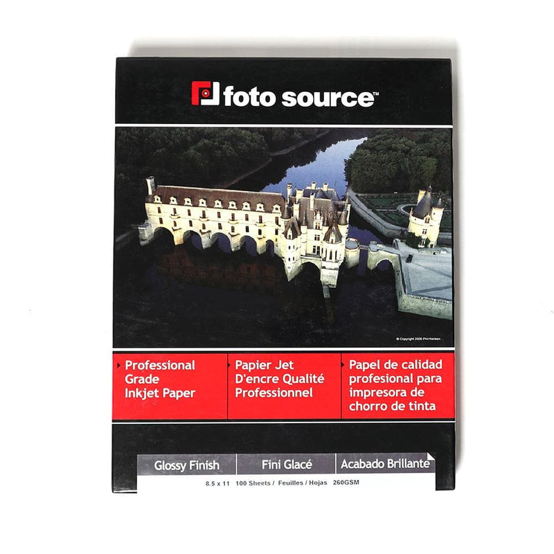 Foto Source Glossy Paper 8.5x11 - pack 100