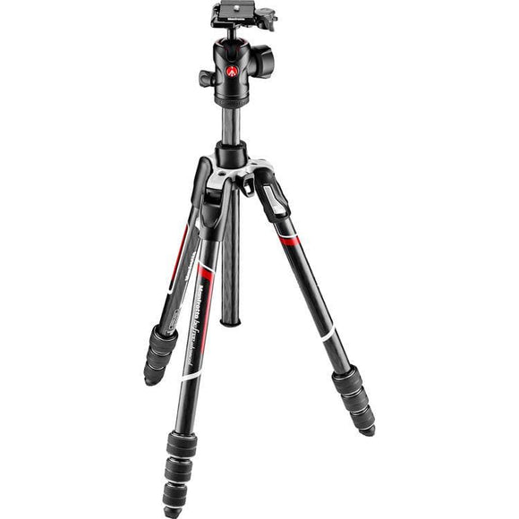 Manfrotto MKBFRTC4-BH Befree Advanced Carbon Fiber Travel Tripod with 494 Ball Head (Twist Locks, Black)