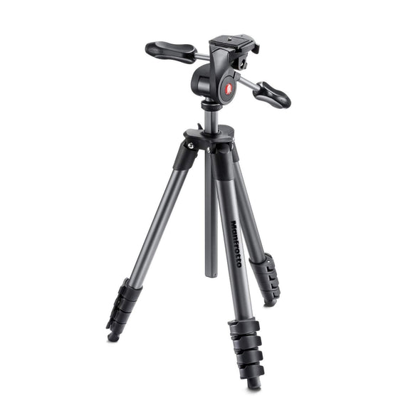 Manfrotto MKCOMPACTADV-BK Compact Advanced Tripod with 3-Way Head