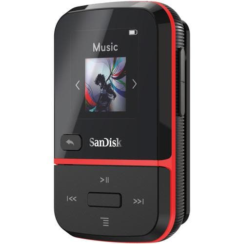 SanDisk 16GB Clip Sport Go MP3 Player - red