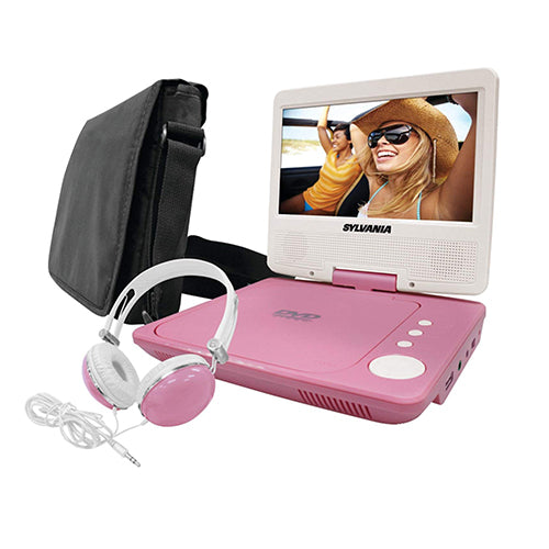 Sylvania SDVD7060-Combo 7-Inch Portable DVD Player Bundle with Matching Oversize Headphones and Deluxe Travel Bag