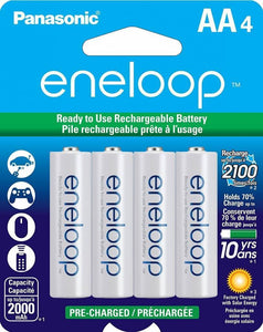 Panasonic Panasonic BK3MCCA4BF Eneloop AA New 2100 Cycle Ni-MH Pre-Charged Rechargeable Batteries, 4-Pack