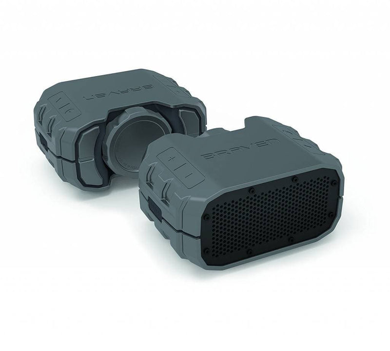 Braven BRV1SGG BRV-1S Series Waterproof Bluetooth Speaker, Gray