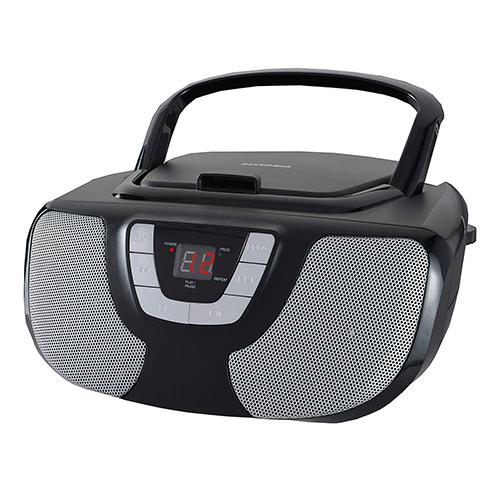Sylvania SRCD243 Portable CD Player Boombox with AM/FM Radio