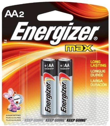 Energizer Energizer Alkaline Battery Size Aa Blister Pack 2