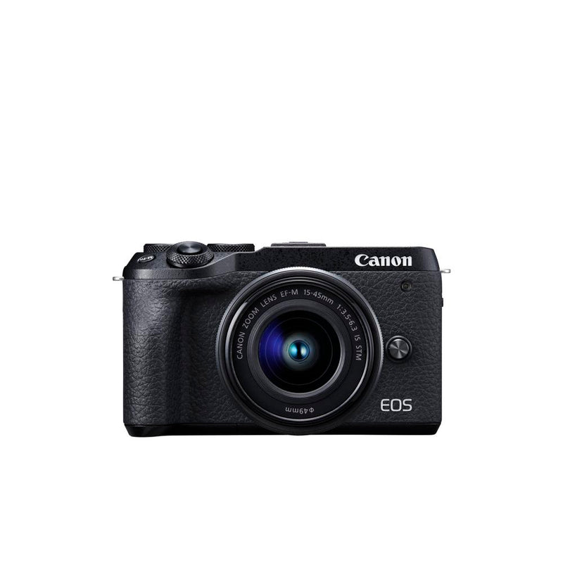 Canon EOS M6 Mark II Mirrorless Digital Camera  and EVF-DC2 Viewfinder - Black