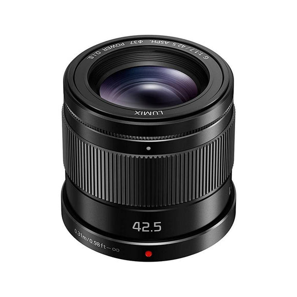 Panasonic H-HS043K LUMIX G 42.5mm f/1.7 Asph. Power O.I.S. Lens for Micro Four Thirds Cameras