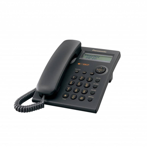 Panasonic KX-TSC11B Corded Phone with Caller ID, Black