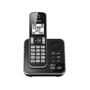 Panasonic KXTGD390B 1 handset Cordless phone with answering system