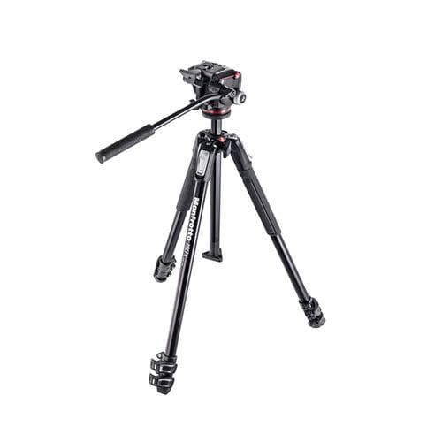 Manfrotto 190X3 ALUMINUM TRIPOD with 2W fluid head MHXPRO