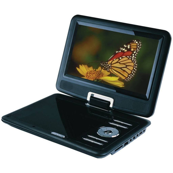 Sylvania SDVD9000B2-D-BLACK 9-Inch Portable DVD Player with Car Bag/Kit, Swivel Screen, USB/SD Card Reader,