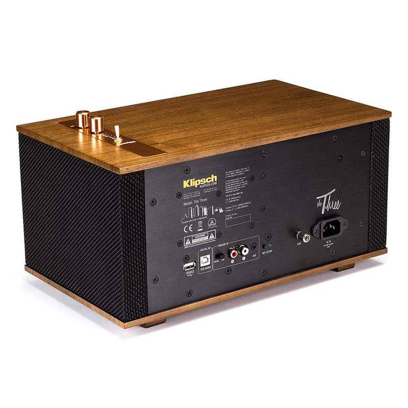 klipsch The Three Heritage Wireless Tabletop Stereo System - Walnut