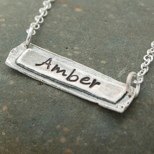 Sentimental Name Charm Necklace - Bella Branch
