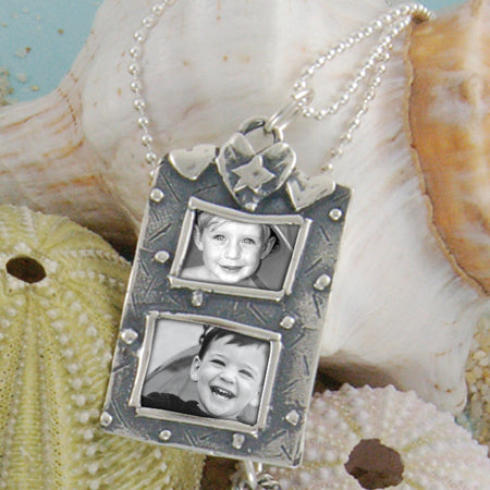 Double Hearts Photo Necklace