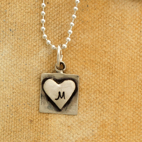 Heart Initial Necklace - Bella Branch