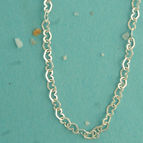 Heart Chain Sterling Silver Necklace - Bella Branch