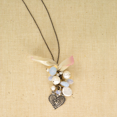 Dusty Rose Tassel Necklace - Bella Branch