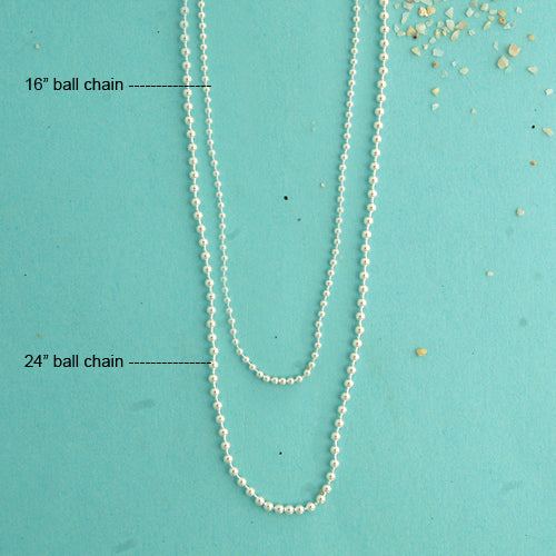 Ball Chain Sterling Silver Necklace - Bella Branch