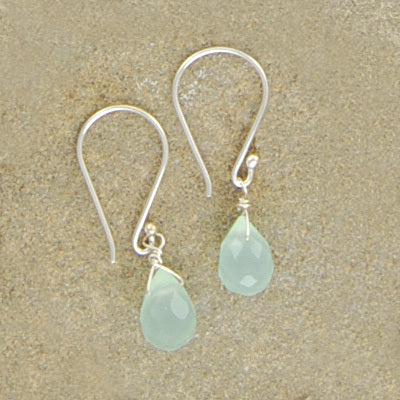 Aqua Chalcedony Earrings - Bella Branch