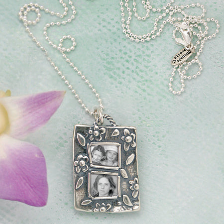 Spring Photo Necklace