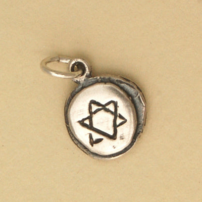 Star of David Circle Charm - Bella Branch