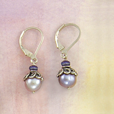 Sweet Lavender Rose Earrings - Bella Branch