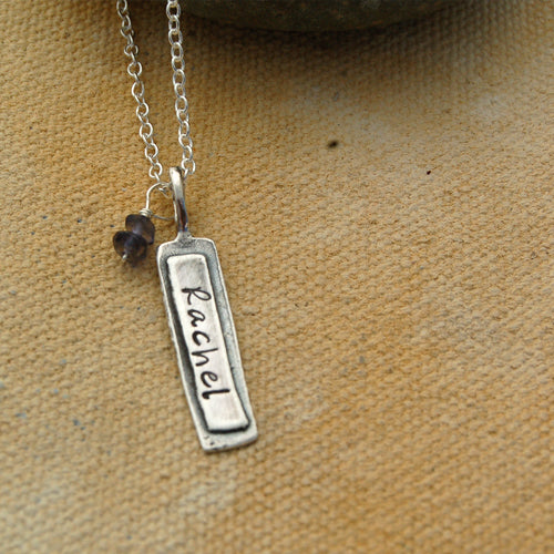 Name & Birthstone Necklace - Bella Branch
