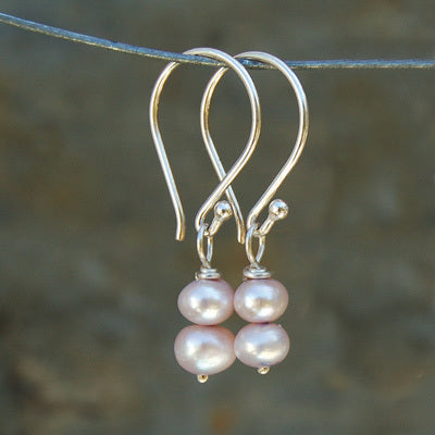 Pink Paired Pearl Earrings - Bella Branch
