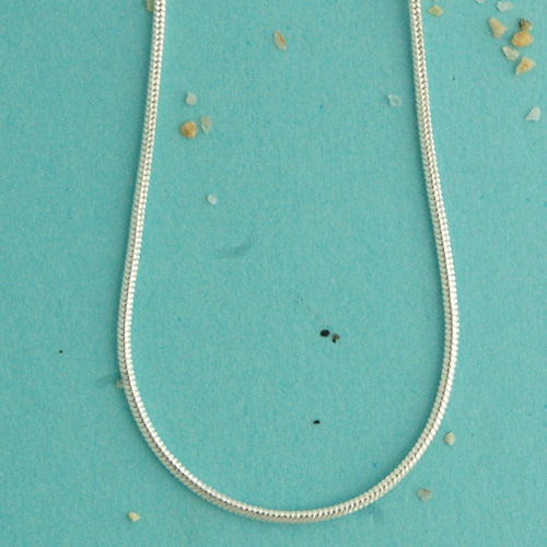 Snake Chain Sterling Silver Necklace - Bella Branch
